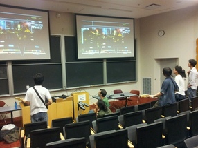 Anime club members playing Rock Band 2 for Gaming Night!