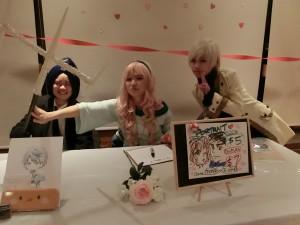 Our guest commission artists! Ki Hiwatari, Piggy Ho Ho, and Snakey Ho Ho