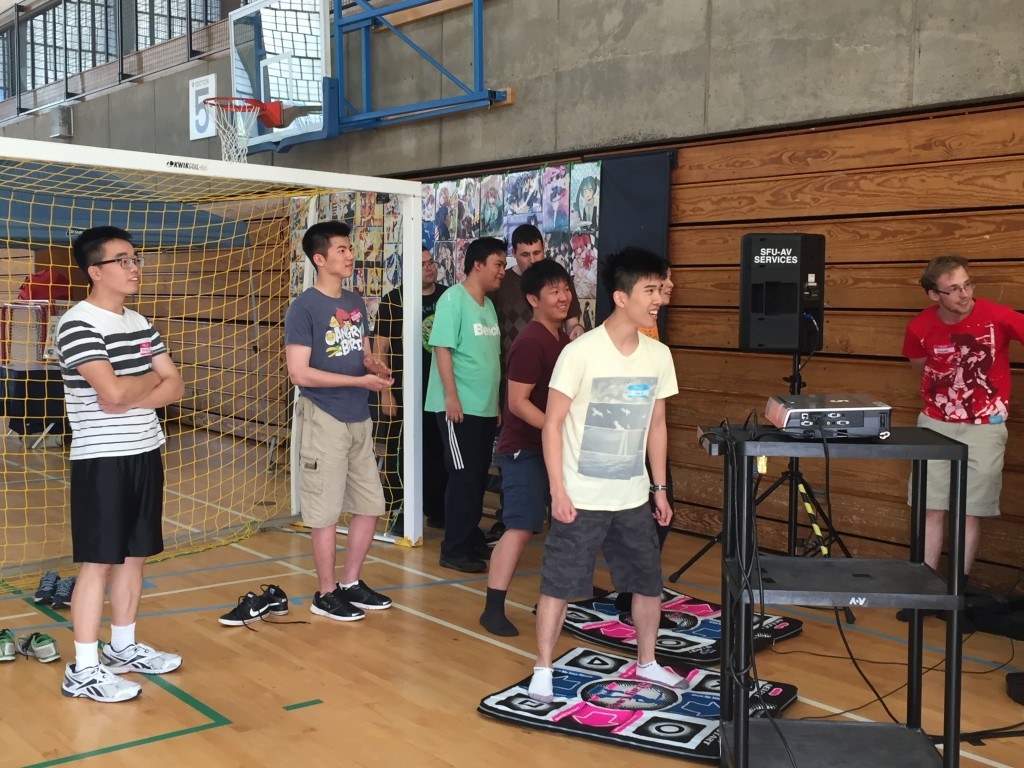 Participants square off in some intense DDR action!